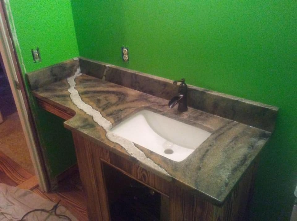 granite countertops NC vanity